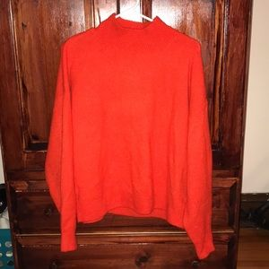 H&M Orange Turtle Neck Sweater